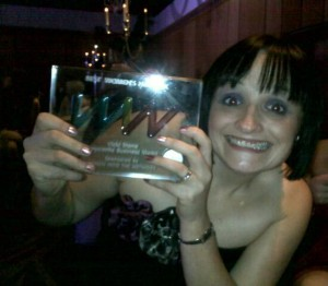 Vicki Stone wins WIN award 2011