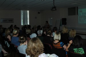 A captive audience for Vicki Stone at Let's Do biz event July 2012