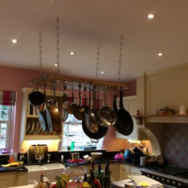 Hanging pans with hahn to save kitchen space | Mr Cookshop