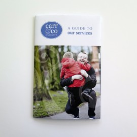 Project | Carr & Co Solicitors pocket-sized literature
