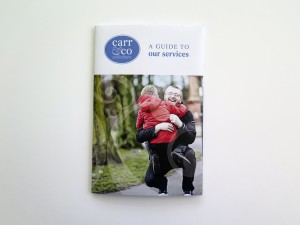 Carr & Co Solicitors pocket sized literature