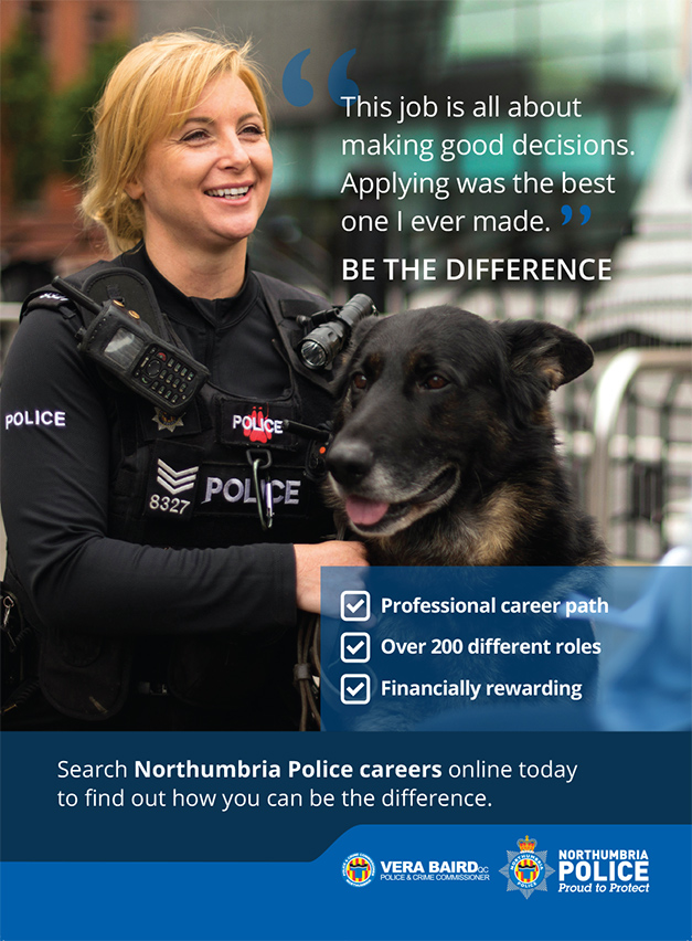 Northumbria Police Advertising Escalator